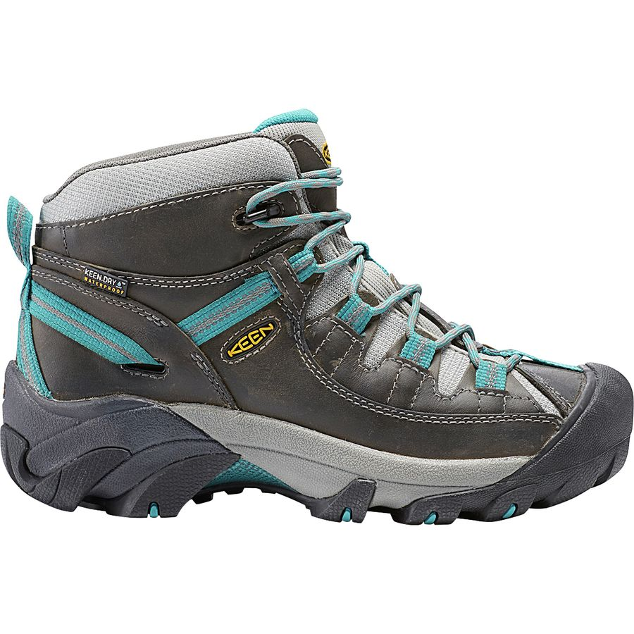 KEEN - Targhee II Mid Hiking Shoe - Women's - Gargoyle/Caribbean Sea