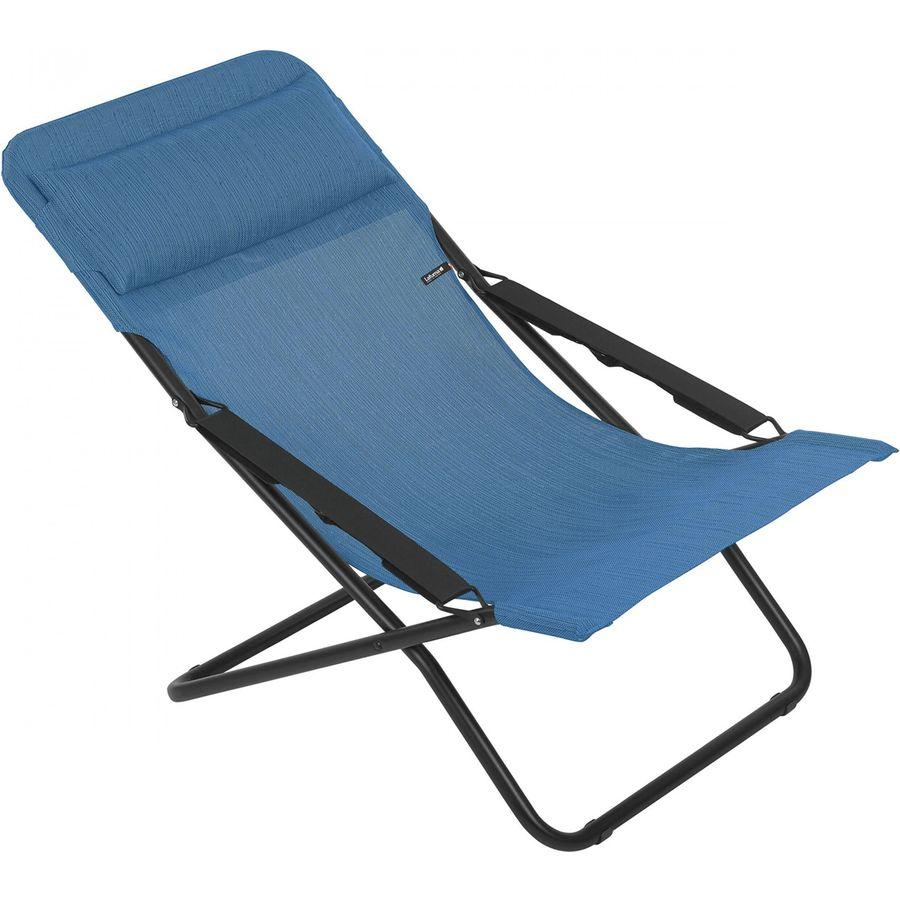 Lafuma   Sunlounger Chair   Black/Outremer