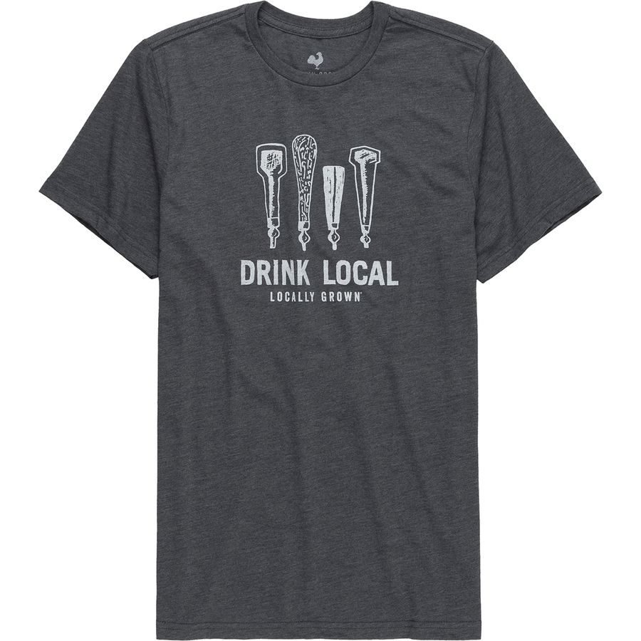 Locally Grown Drink Local Beer Taps T-Shirt - Mens