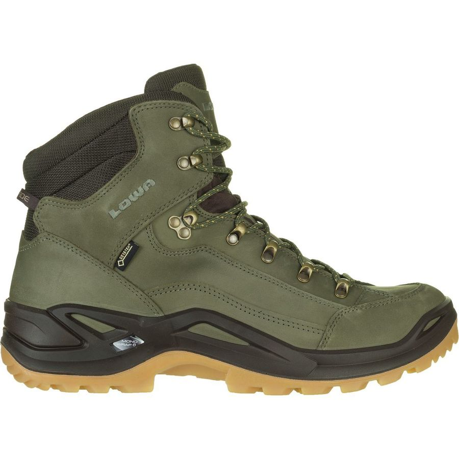 Lowa - Renegade GTX Mid Hiking Boot - Men's - Forest/Dark Brown