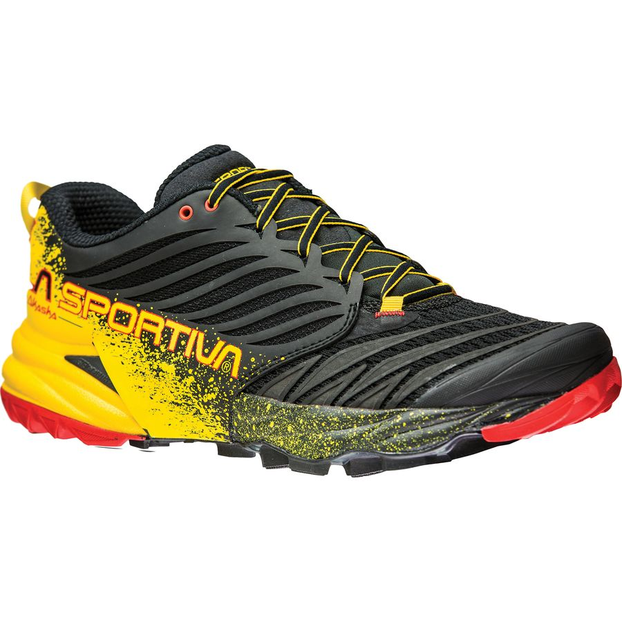 La Sportiva - Akasha Running Shoe - Men's - Black/Yellow