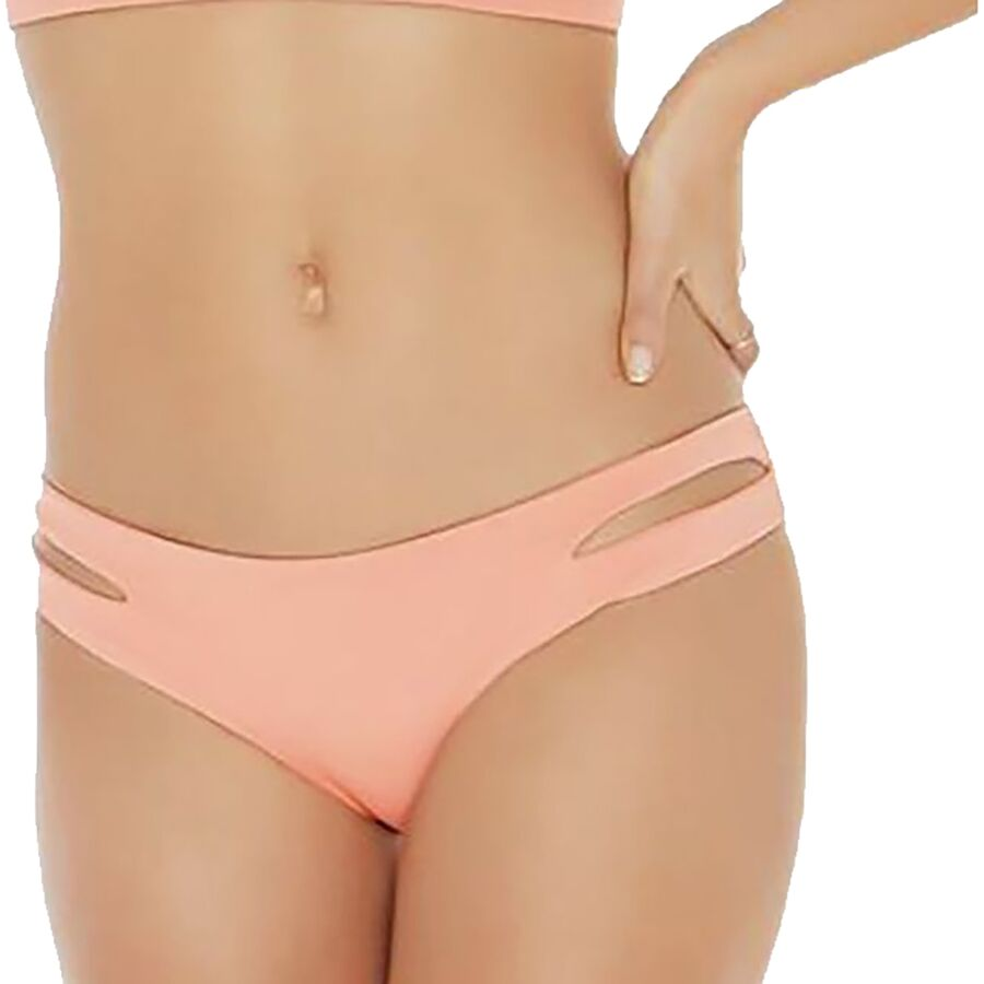 83e0608ee968f L Space - Sensual Solids Estella Bikini Bottom - Women s - Tropical Peach -  Full Cut
