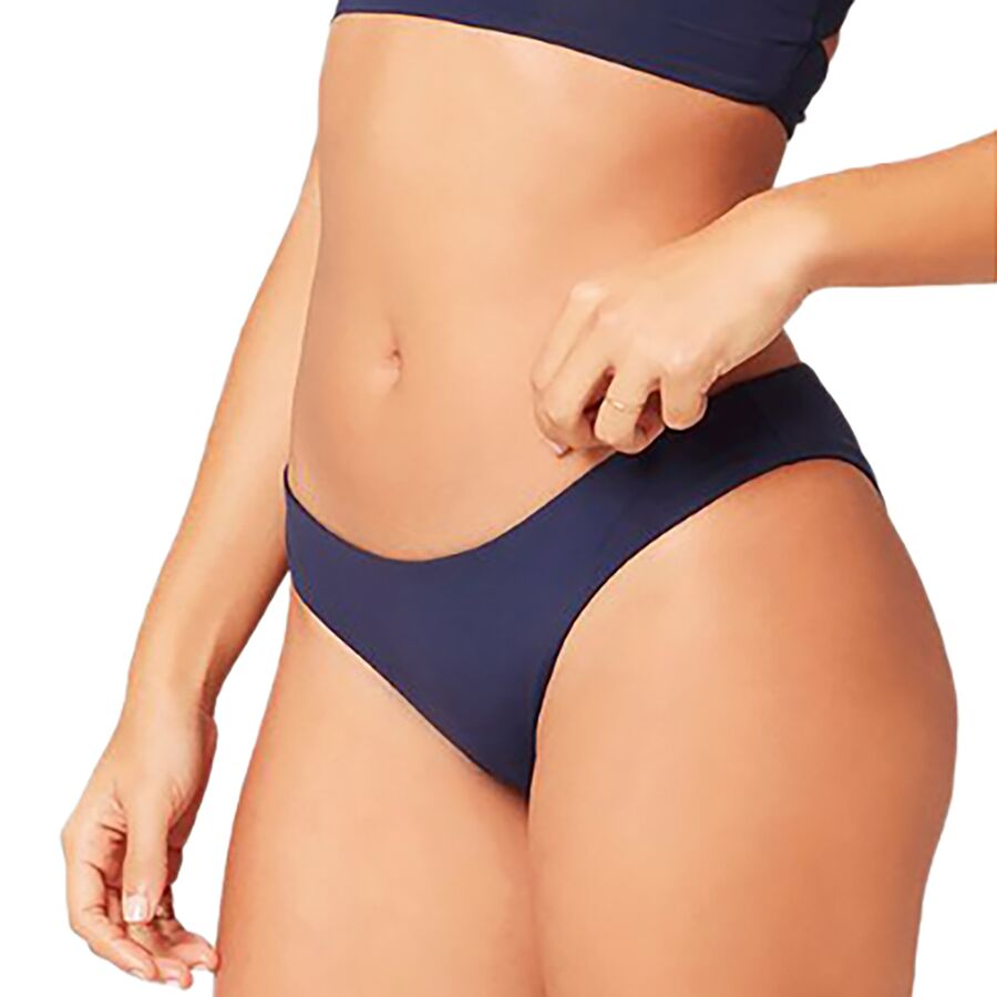 e879a658b3a04 L Space - Sensual Solids Sandy Classic Bikini Bottom - Women s - Midnight  Blue