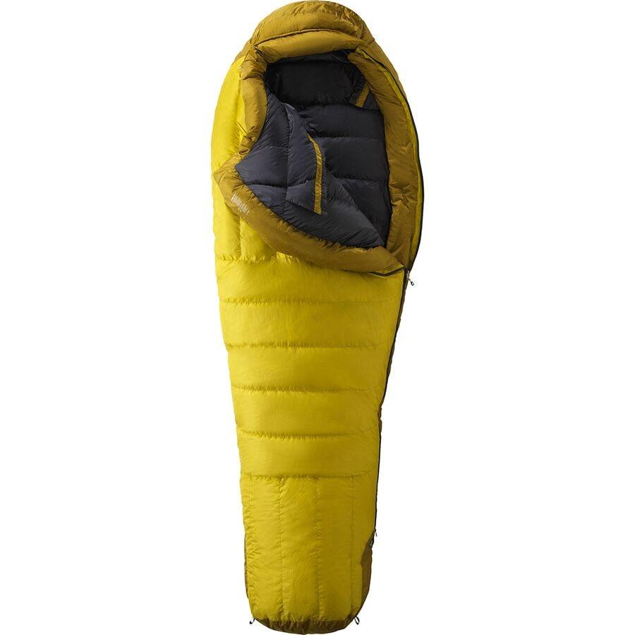 Marmot Col Sleeping Bag 20 Degree Down Yellow Vapor Green Wheat