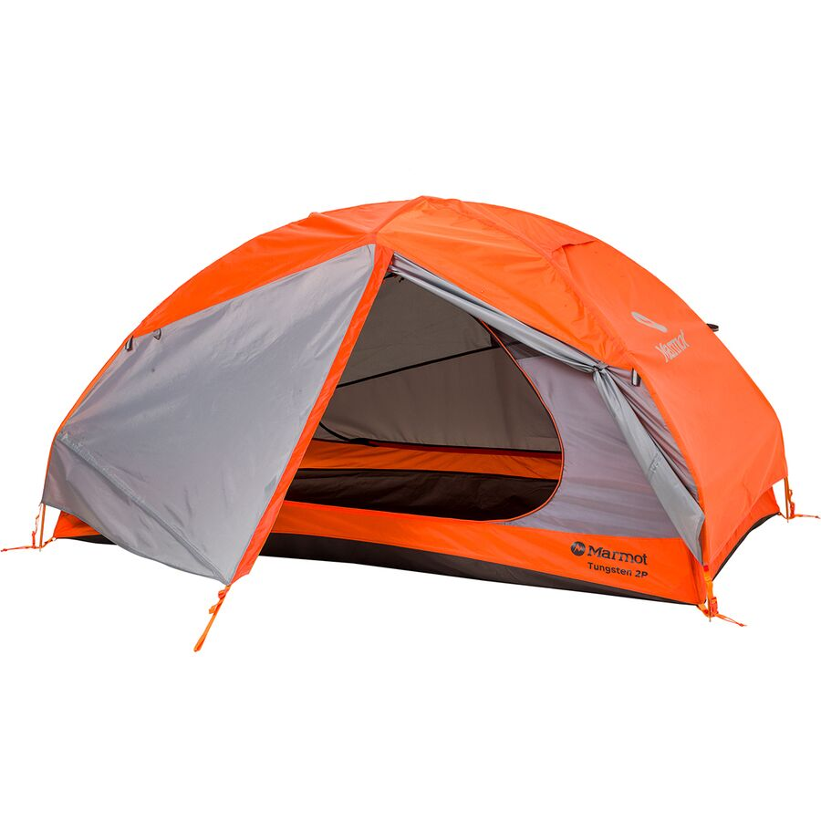 Marmot - Tungsten 2p Tent 2-Person 3-Season - Blaze/Steel  sc 1 st  Backcountry.com & Marmot Tungsten 2p Tent: 2-Person 3-Season | Backcountry.com