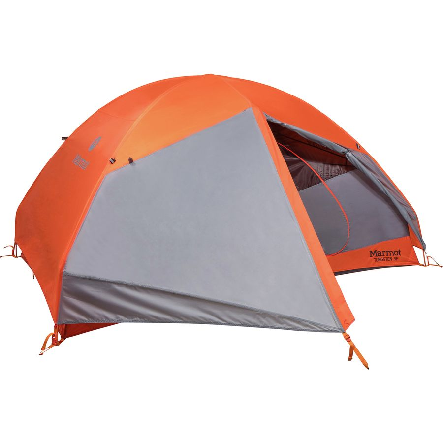 Marmot - Tungsten 3p Tent 3-Person 3-Season - Blaze/Steel  sc 1 st  Backcountry.com & Marmot Tungsten 3p Tent: 3-Person 3-Season | Backcountry.com