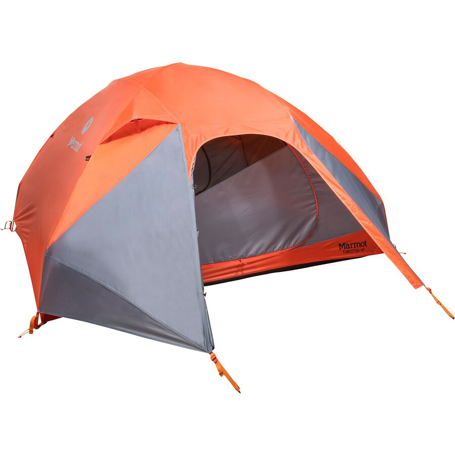 Marmot - Tungsten 4P Tent 4-Person 3-Season - Blaze/Steel  sc 1 st  Backcountry.com & Marmot Tungsten 4P Tent: 4-Person 3-Season | Backcountry.com