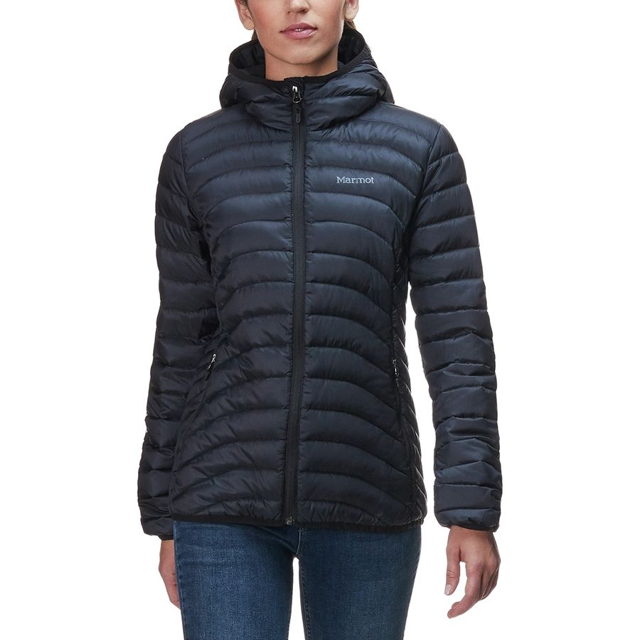 Marmot - Aruna Hooded Down Jacket - Women s - Black b8344c8306f9