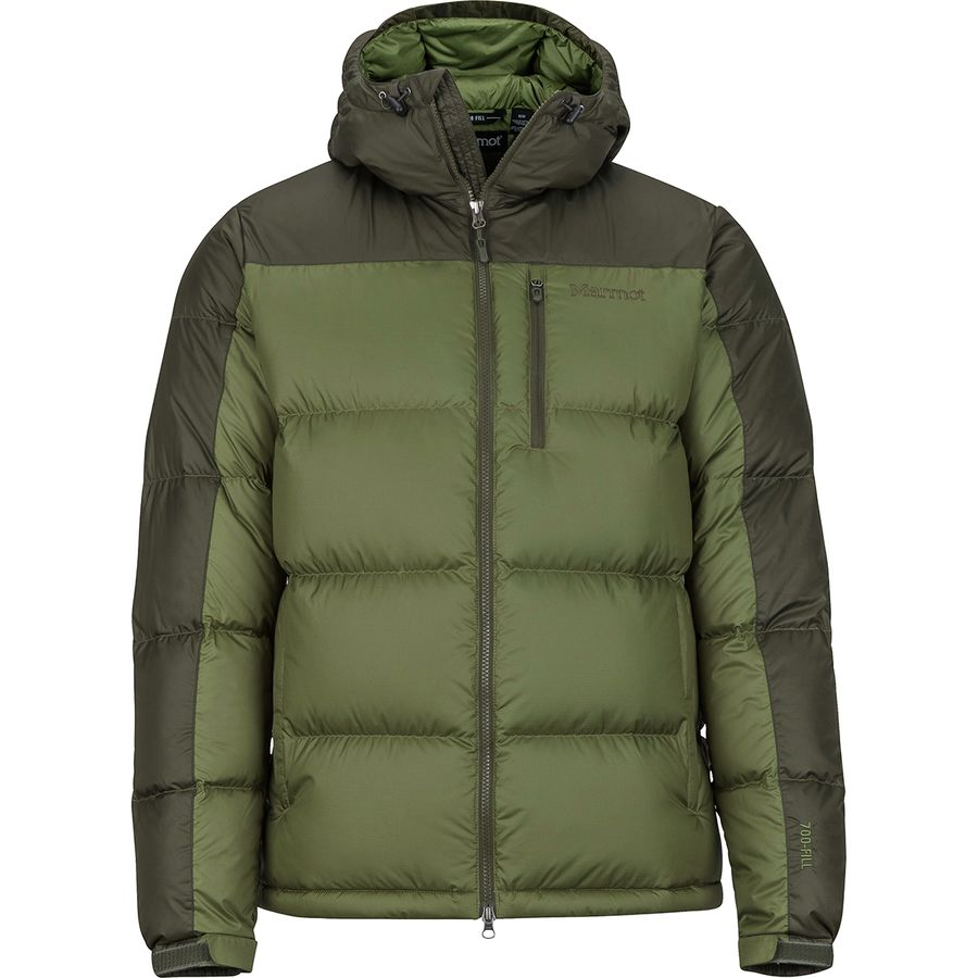 Marmot - Guides Down Hooded Jacket - Men s - Bomber Green Forest Night 9415aca093