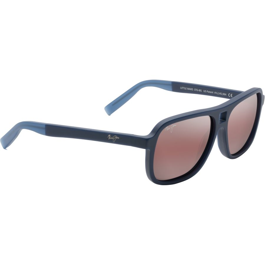 93a3db737295 Maui Jim - Little Maks Polarized Sunglasses - Matte Blue/Maui Rose