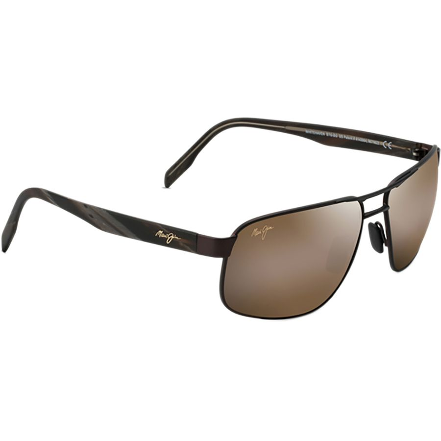 f3a3323e574 Maui Jim - Whitehaven Polarized Sunglasses - Men's - Satin Chocolate/HCL  Bronze