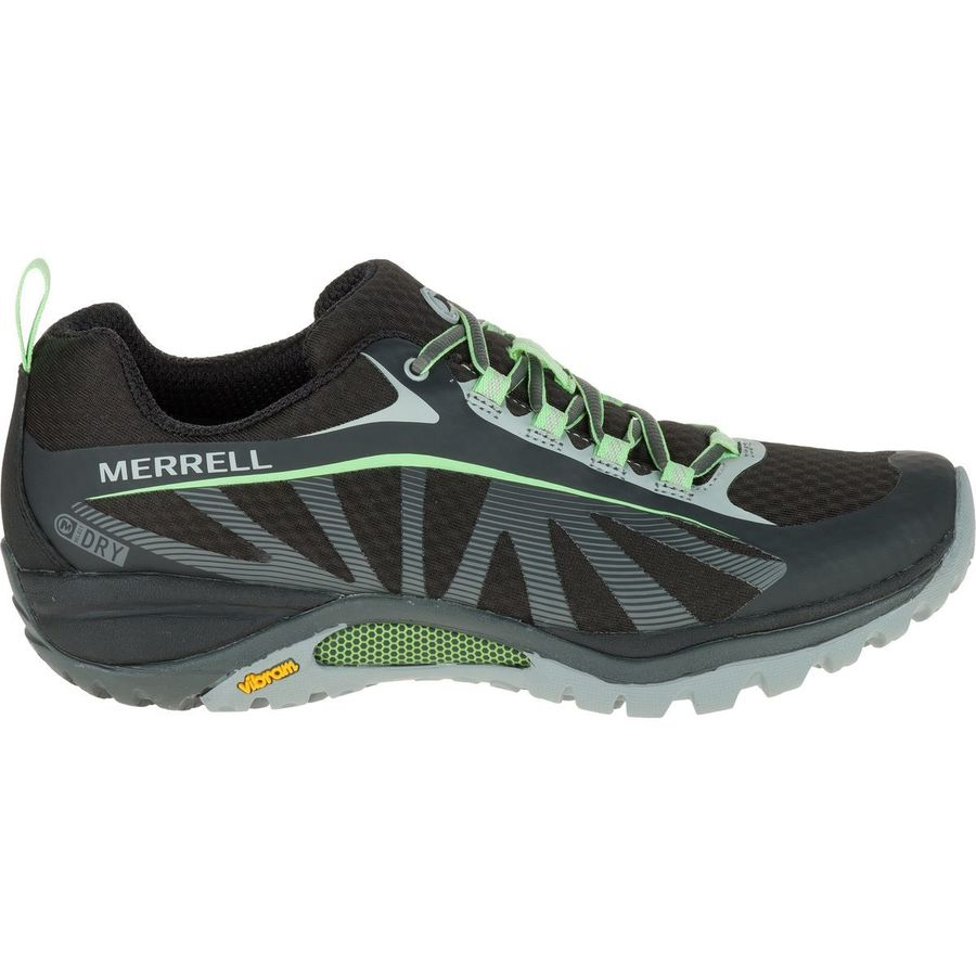 Merrell  Siren Edge Waterproof Hiking Shoe  Womens  Black Paradise