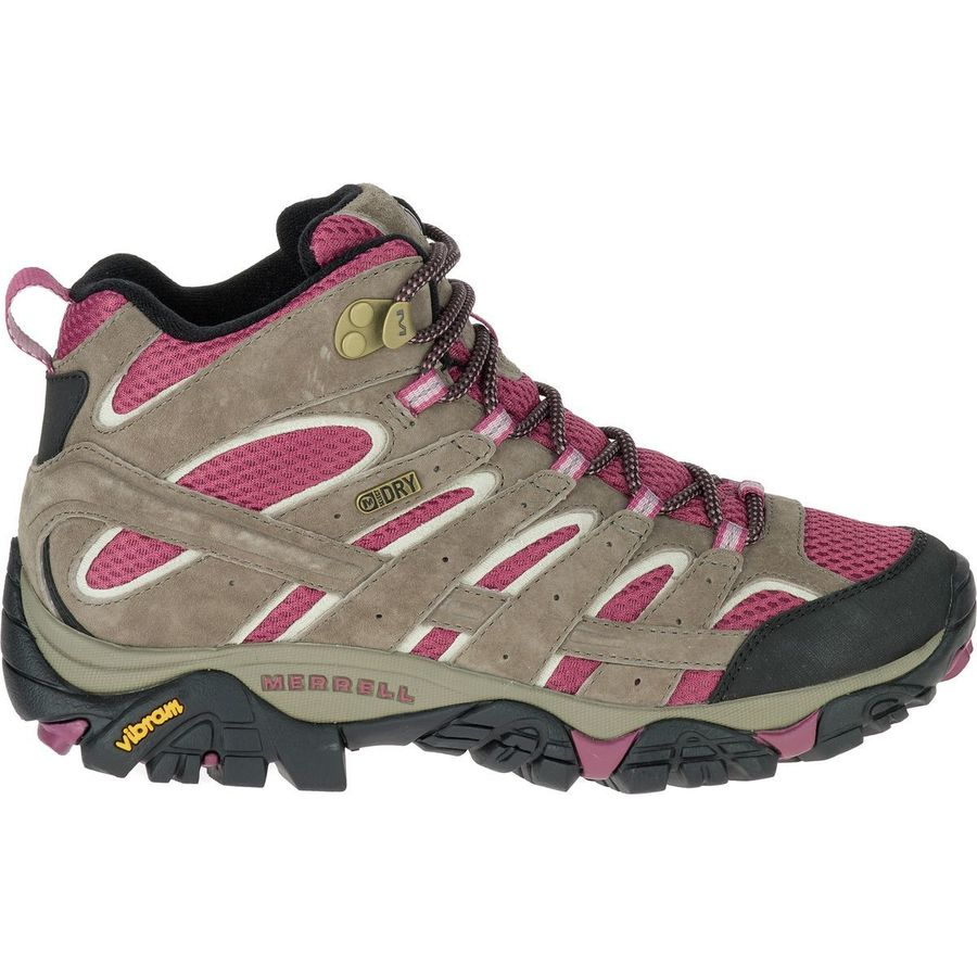 501cd58a154 Merrell - Moab 2 Mid Waterproof Hiking Boot - Women's - Boulder/Blush