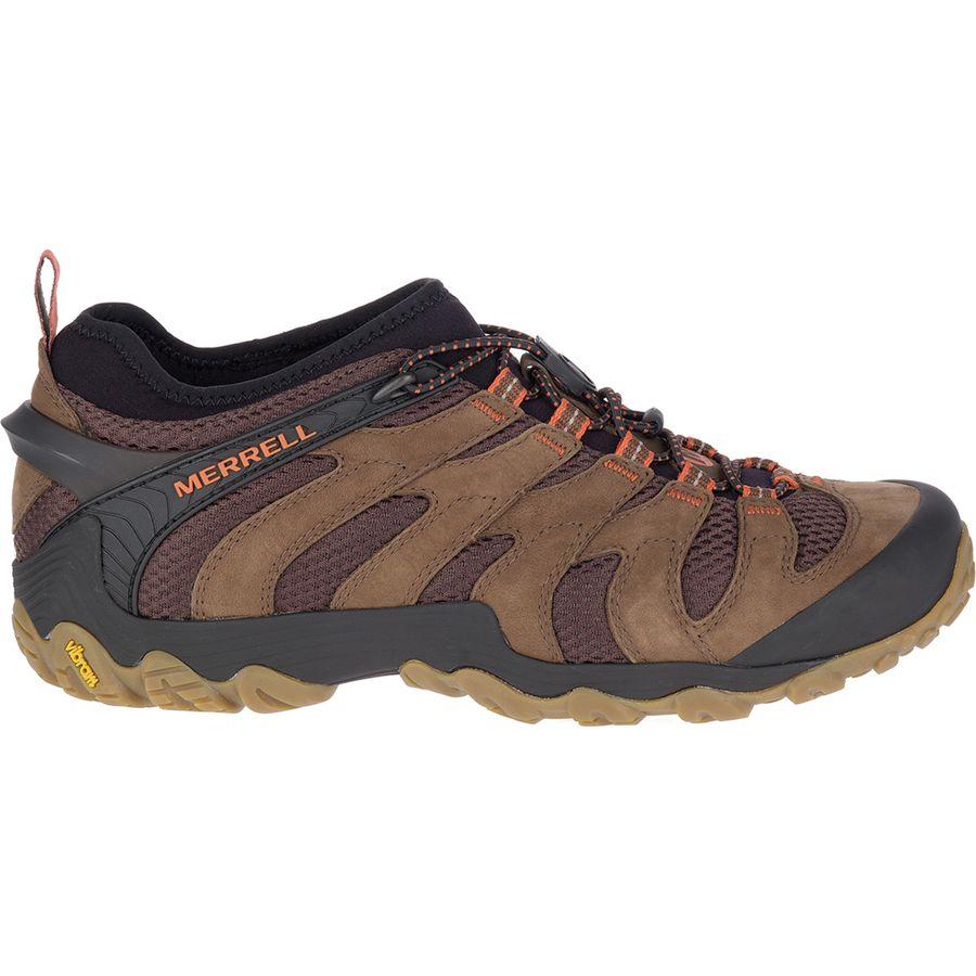 Merrell Cham 7 Stretch Mens Black Vibram Bungee Cord Slip On Shoes