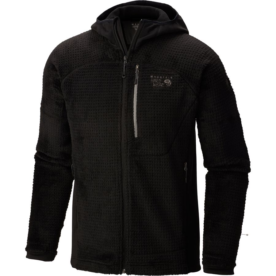 Mountain Hardwear Monkey Man Grid II Hooded Fleece Jacket - Mens