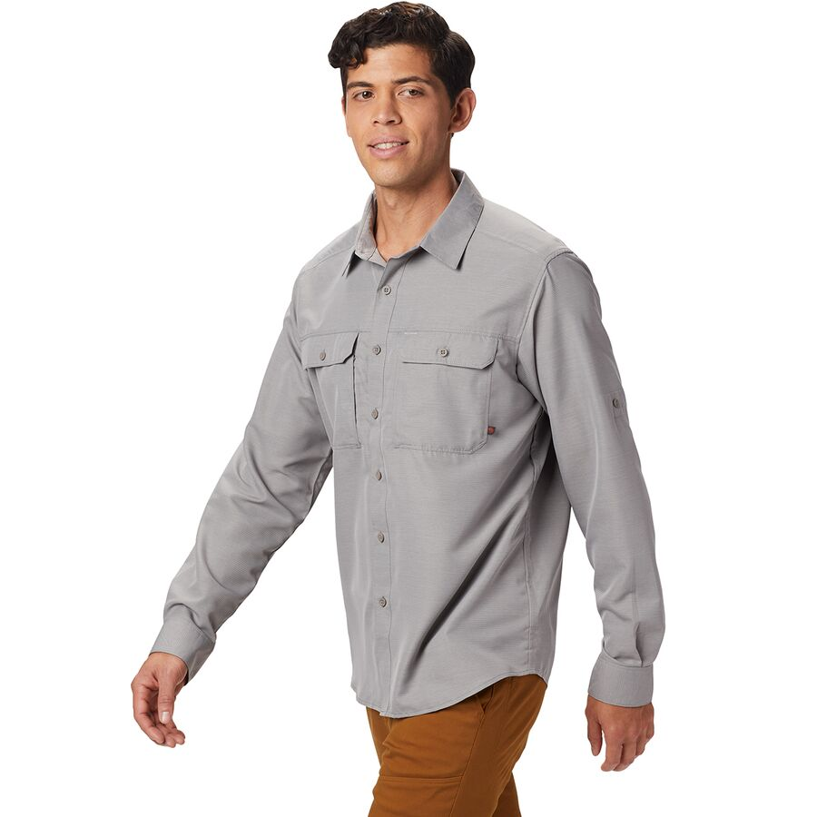 Mountain Hardwear - Canyon Long-Sleeve Shirt - Men s - Manta Grey 064e77452bd6