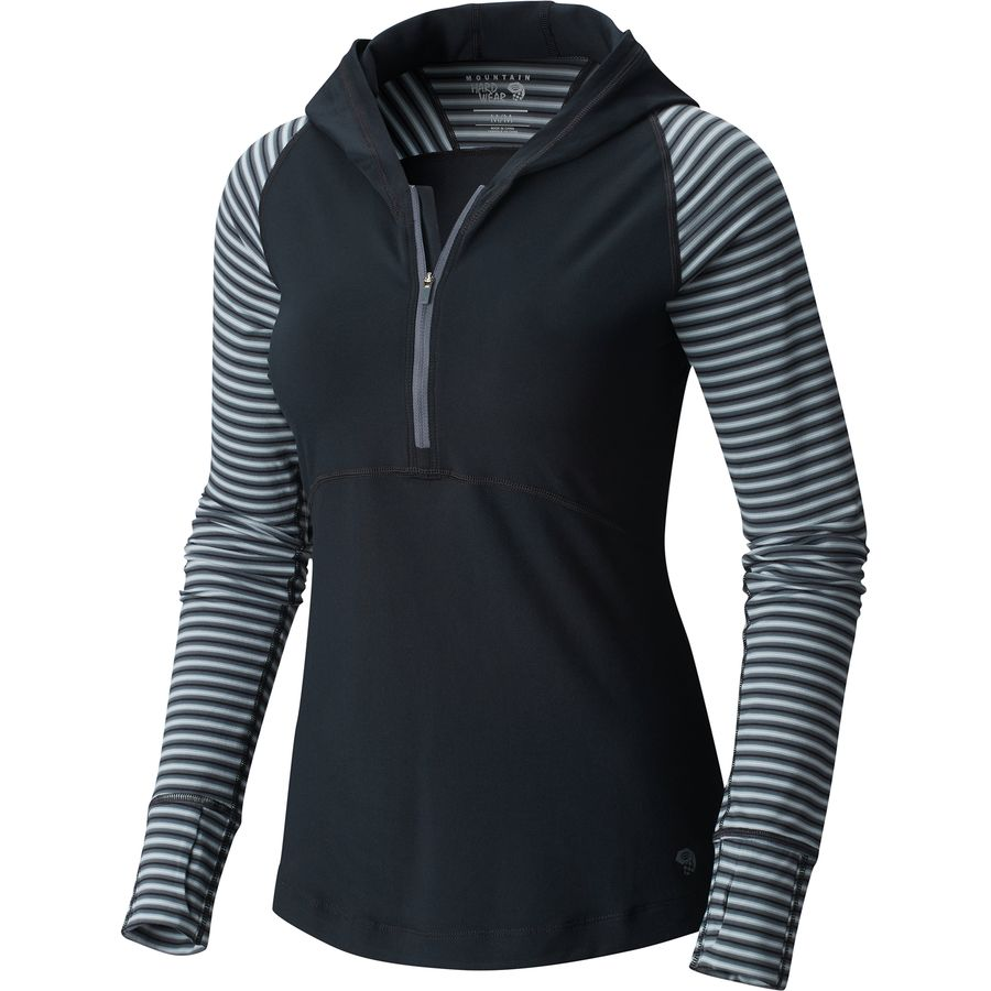 Mountain Hardwear Butterlicious Stripe Hooded Shirt - Womens