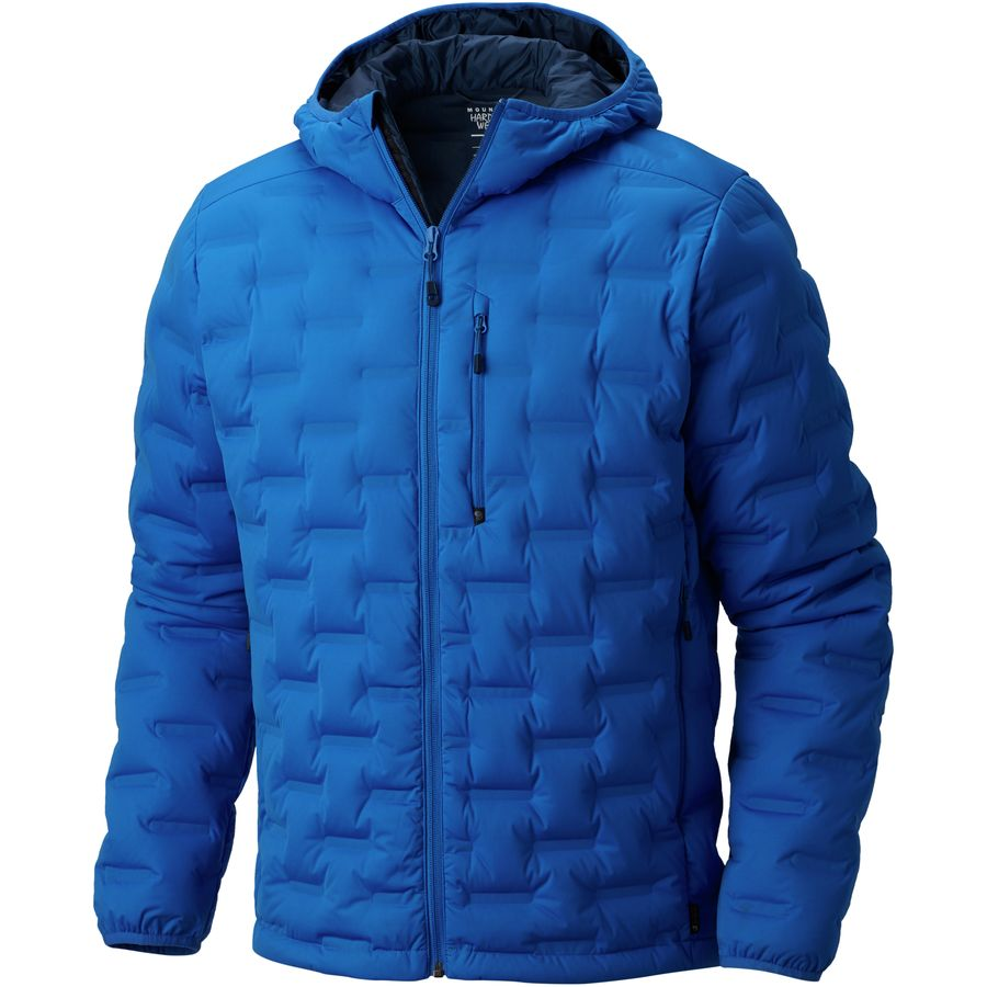 Mountain Hardwear - Stretchdown DS Hooded Jacket - Men's - Altitude Blue