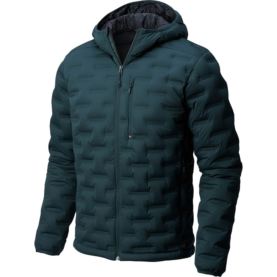 59cf6a139d Mountain Hardwear - StretchDown DS Hooded Jacket - Men s - Blue Spruce