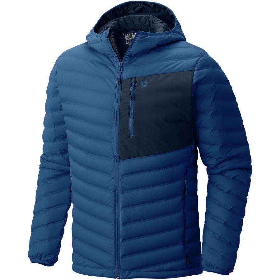 Mountain Hardwear - StretchDown Hooded Jacket - Men's - Nightfall Blue