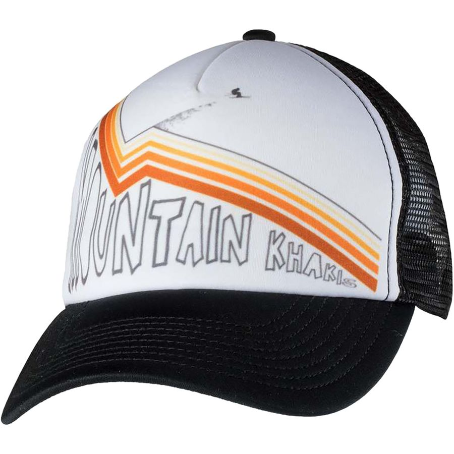 d0066e26376 Mountain Khakis - Send It Trucker Cap - White Black