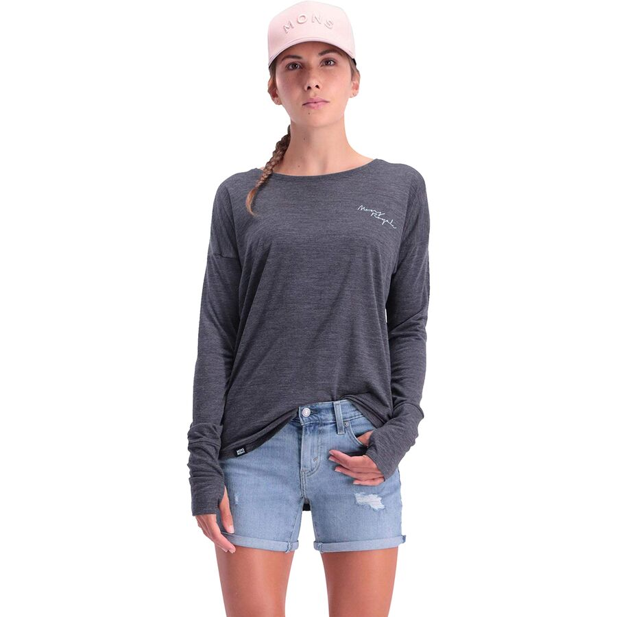Mons Royale Estelle Relaxed Long-Sleeve Top - Womens
