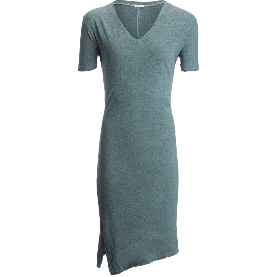 Monrow Oversized Knot Tee Dress - Womens