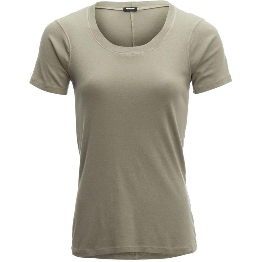 Monrow Opaque Crew Shirt - Womens