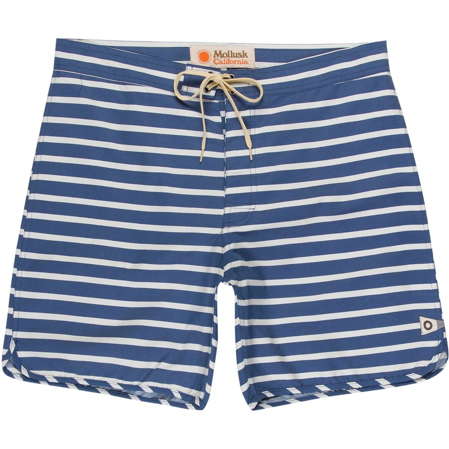 Mollusk Cut Out Stripes Swim Trunk - Mens