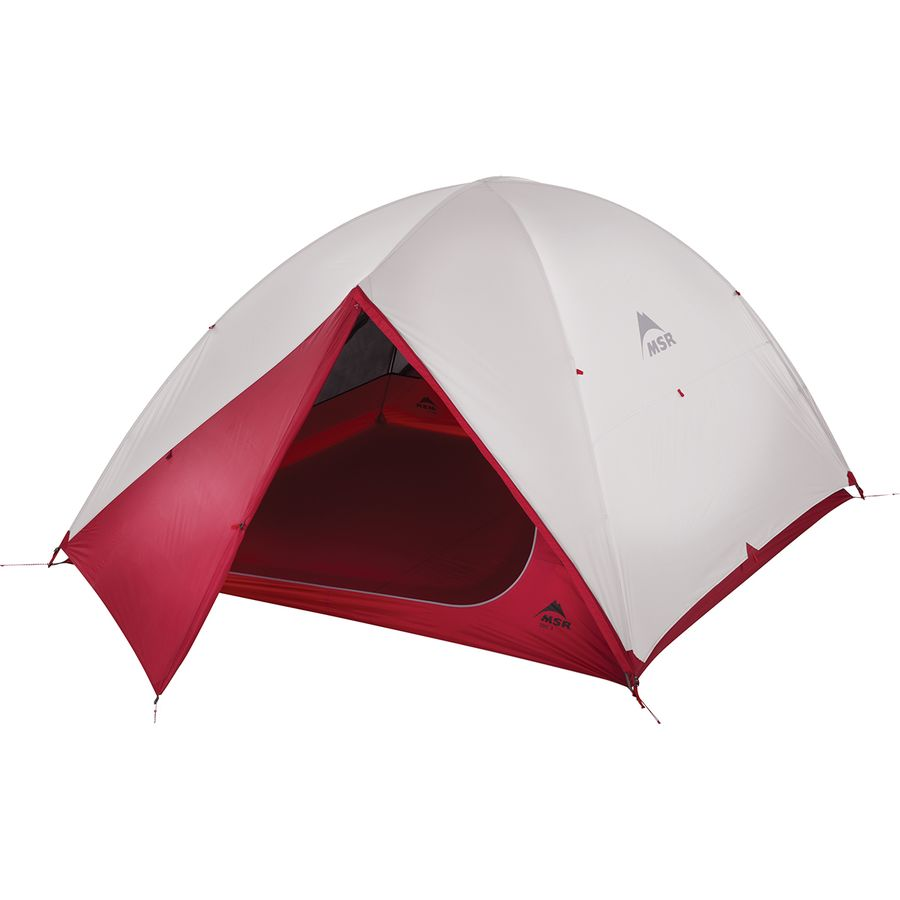 MSR - Zoic 4 Tent: 4-Person 3-Season - Red