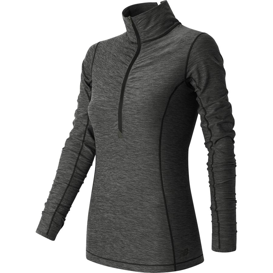New Balance In Transit Half Zip Long Sleeve Shirt - Womens