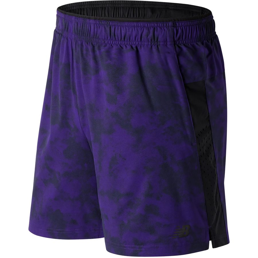 New Balance Printed Woven 2-in-1 Short - Mens