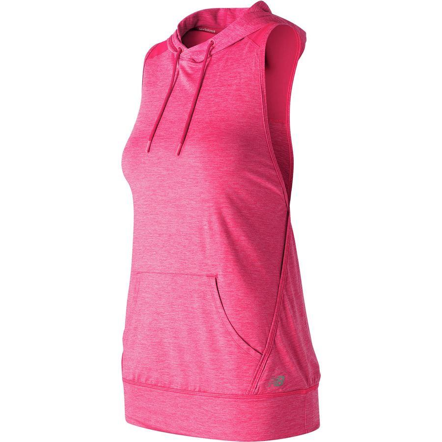 New Balance Hooded Pullover Shirt- Womens