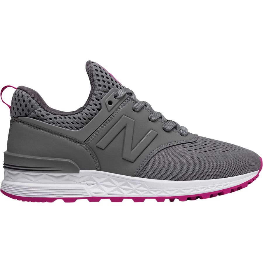 New Balance - 574 Sport Engineered Mesh Shoe - Women s - Gunmetal Azalea d768a6dc59