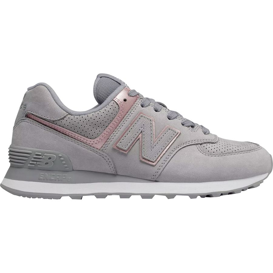 New Balance - 574 Polished Nubuck Shoe - Women s - Arctic Sky 04b14ca0e2
