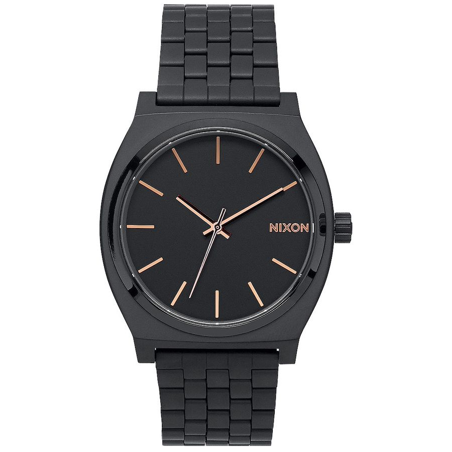 23a3268277971 Nixon - Time Teller Watch - All Black Rose Gold