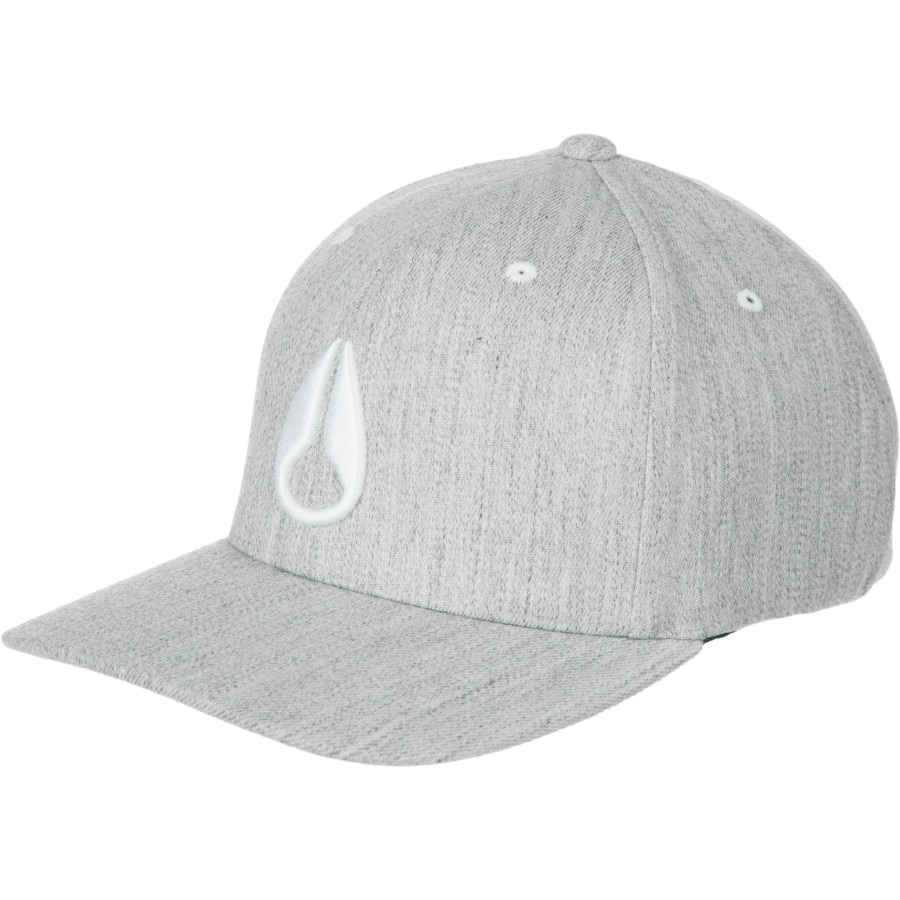 bc198ed6037 Nixon - Deep Down Athletic Flexfit Hat - Men s - Heather Gray White. 1