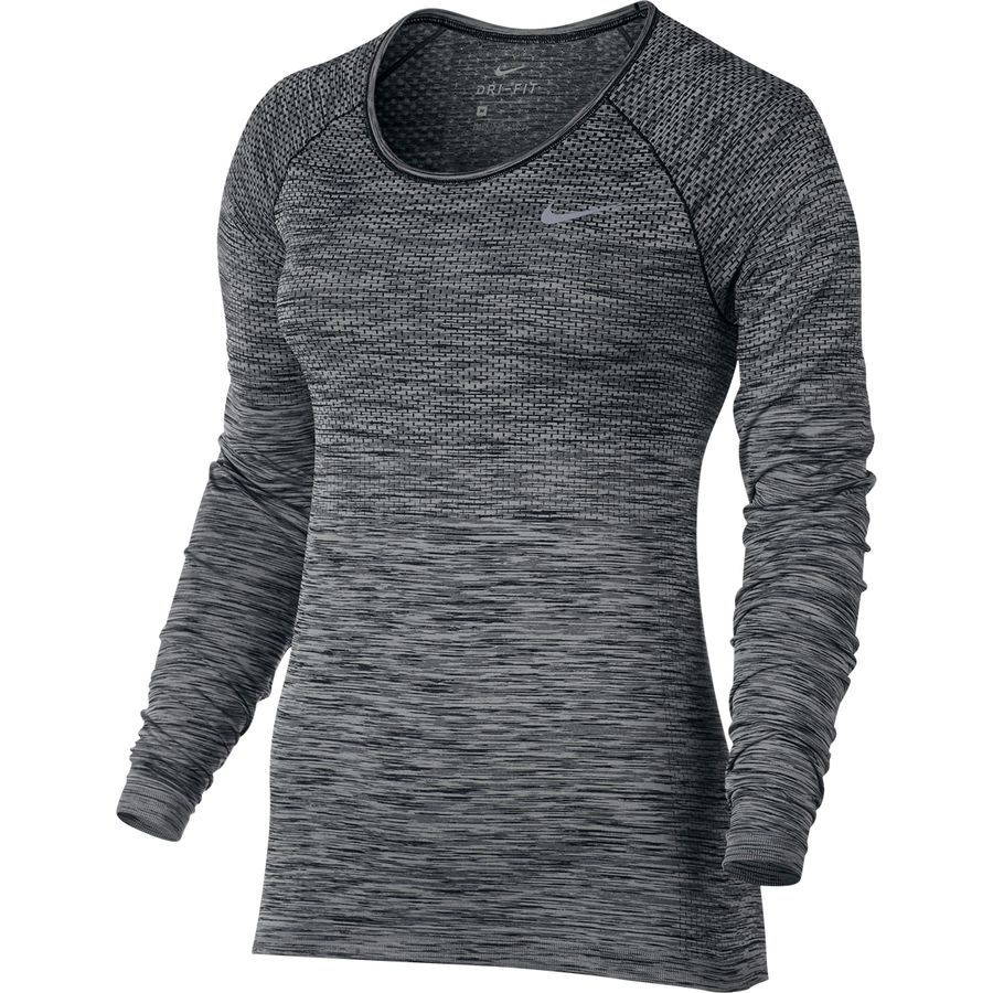 Nike dri fit knit shirt long sleeve women 39 s for Dri fit shirts on sale