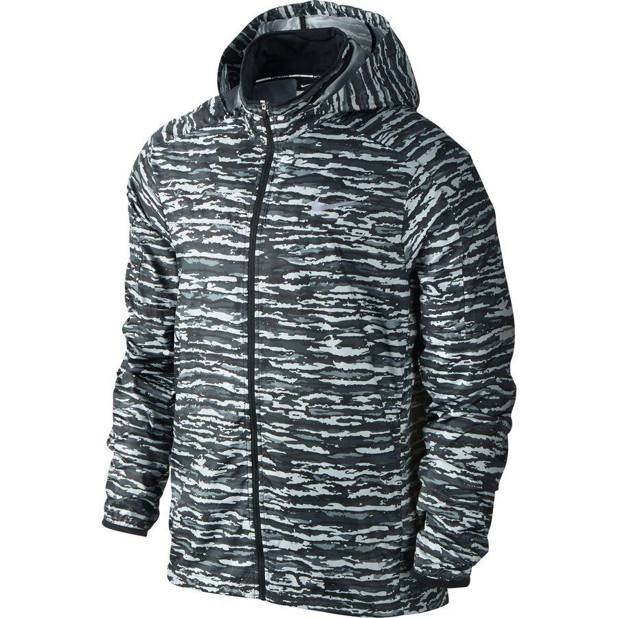 Nike jacket grey and white - Nike Vapor Printed Jacket Men S Dark Grey Black Reflective Silver
