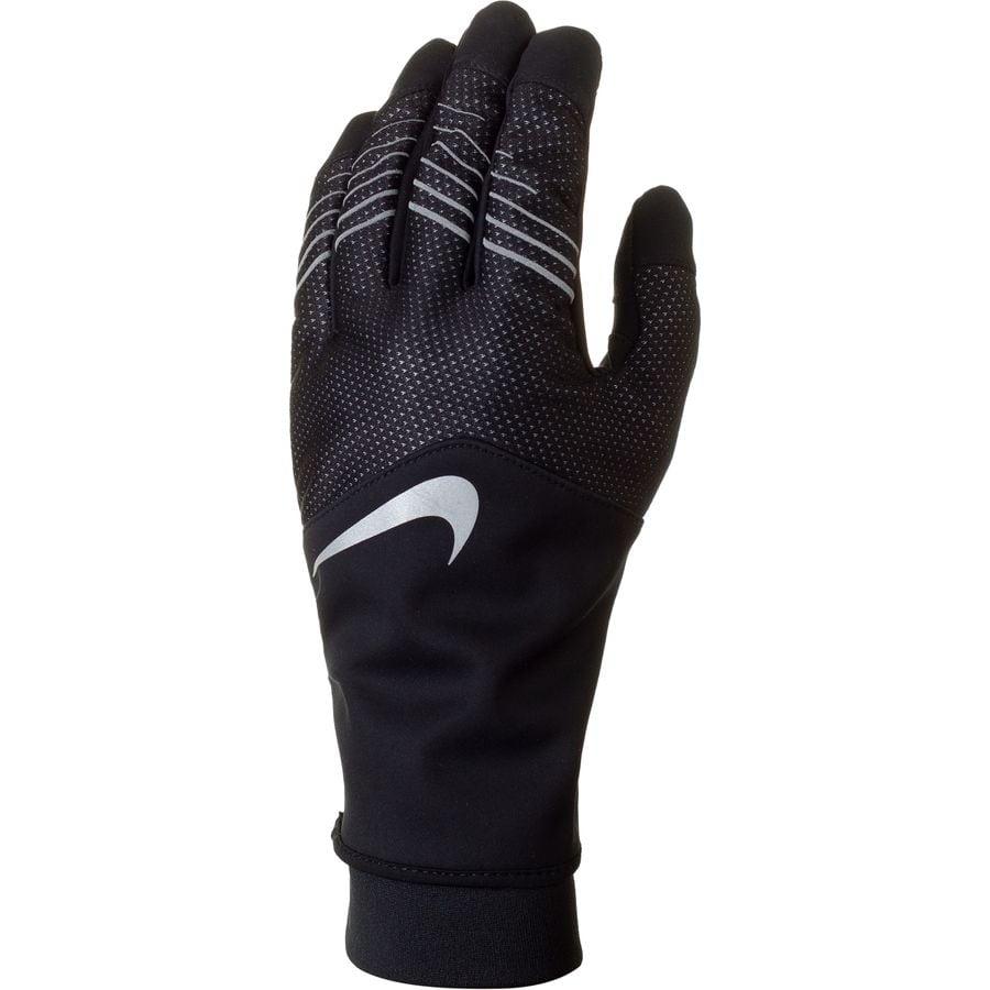 Nike - Storm Fit Hybrid Run Glove - Men's - Black/Black/Silver
