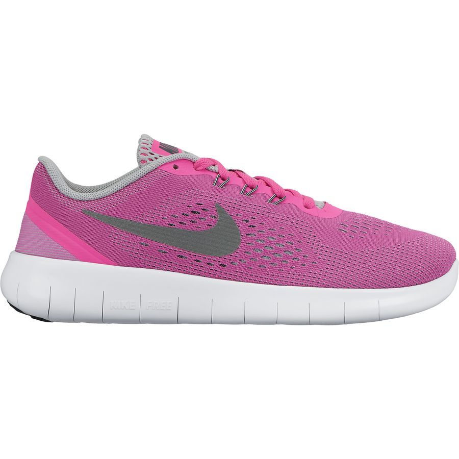 nike running shoes for girls black and white. nike - free running shoe girls\u0027 pink blast/white/black shoes for girls black and white