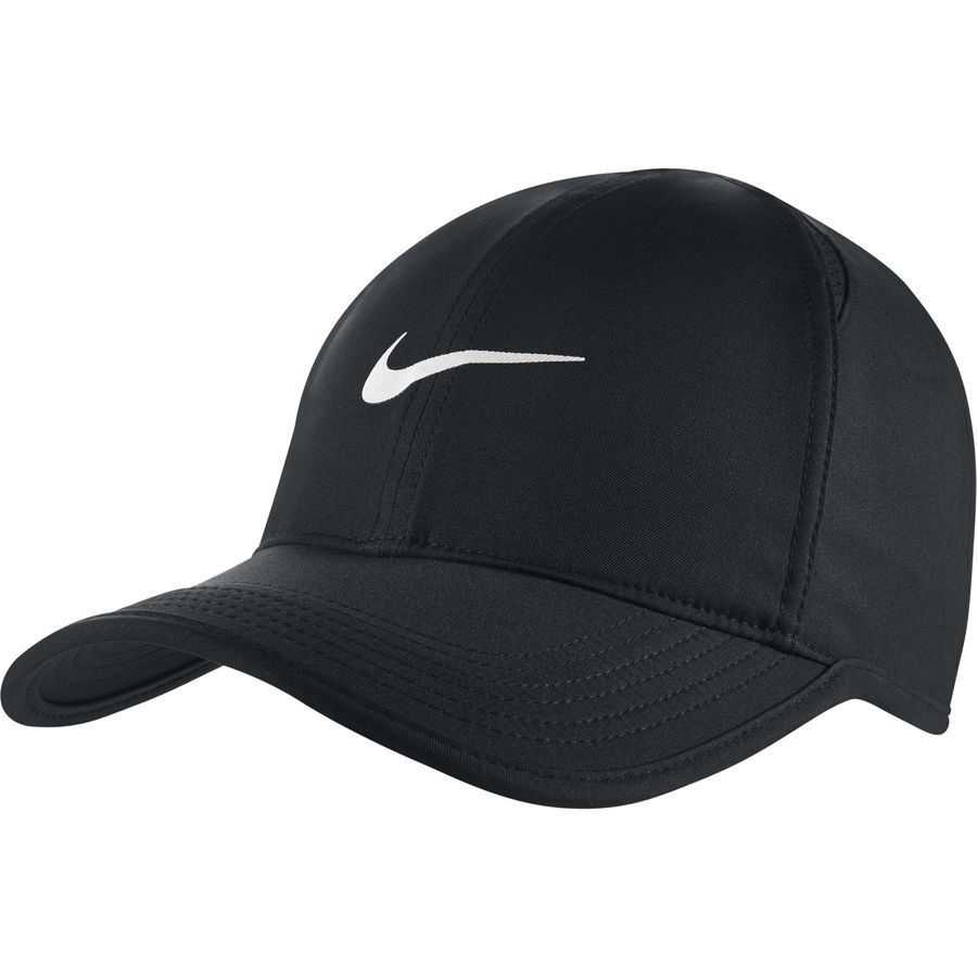 3916086220bb91 Nike - Aerobill Featherlight Running Hat - Black/Black/White