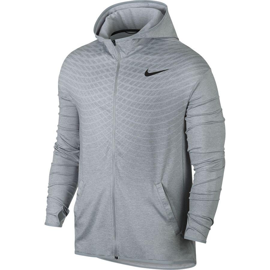 Nike jacket grey and white - Nike Dry Training Hoodie Men S Wolf Grey White Black