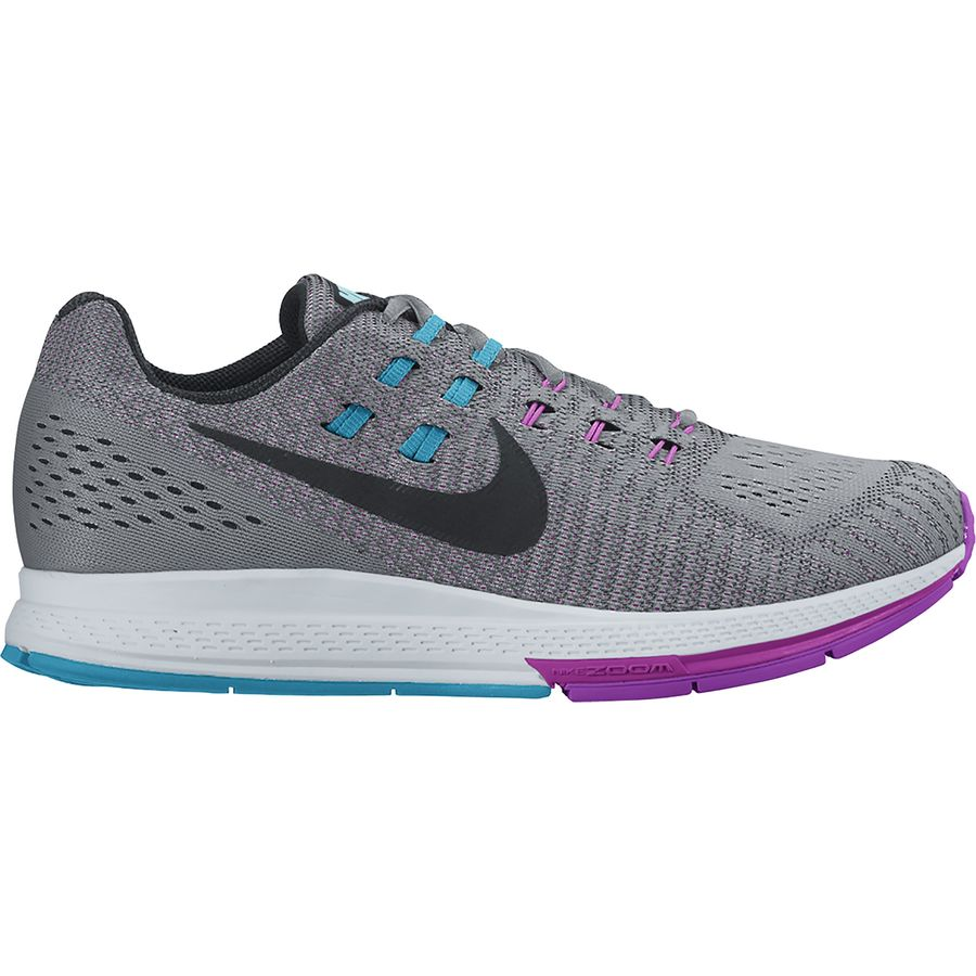 ... nike air zoom structure 19 running shoe womens nike zoom structure 19  womens pink grey ...