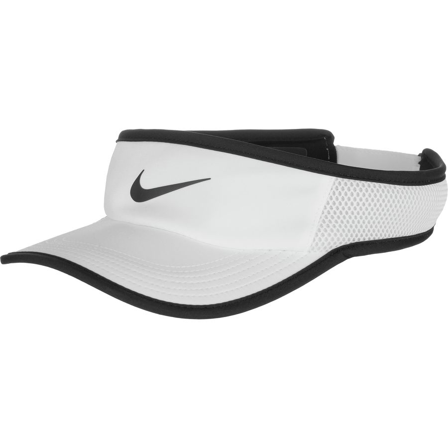 Nike - AeroBill Featherlight Adjustable Visor - White Black Black cfc7d298d94