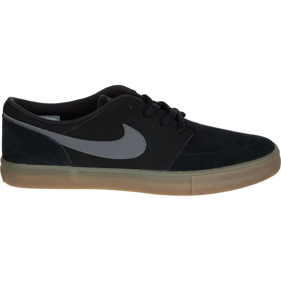 Nike - SB Solarsoft Portmore II Shoe - Men's - Black/Dark Grey-Gum