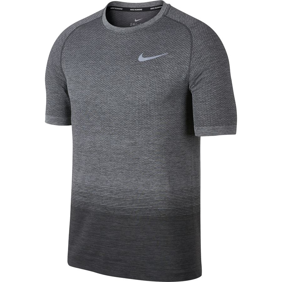 Nike - Dri-FIT Knit Running Top - Men's - Anthracite/Wolf Grey/