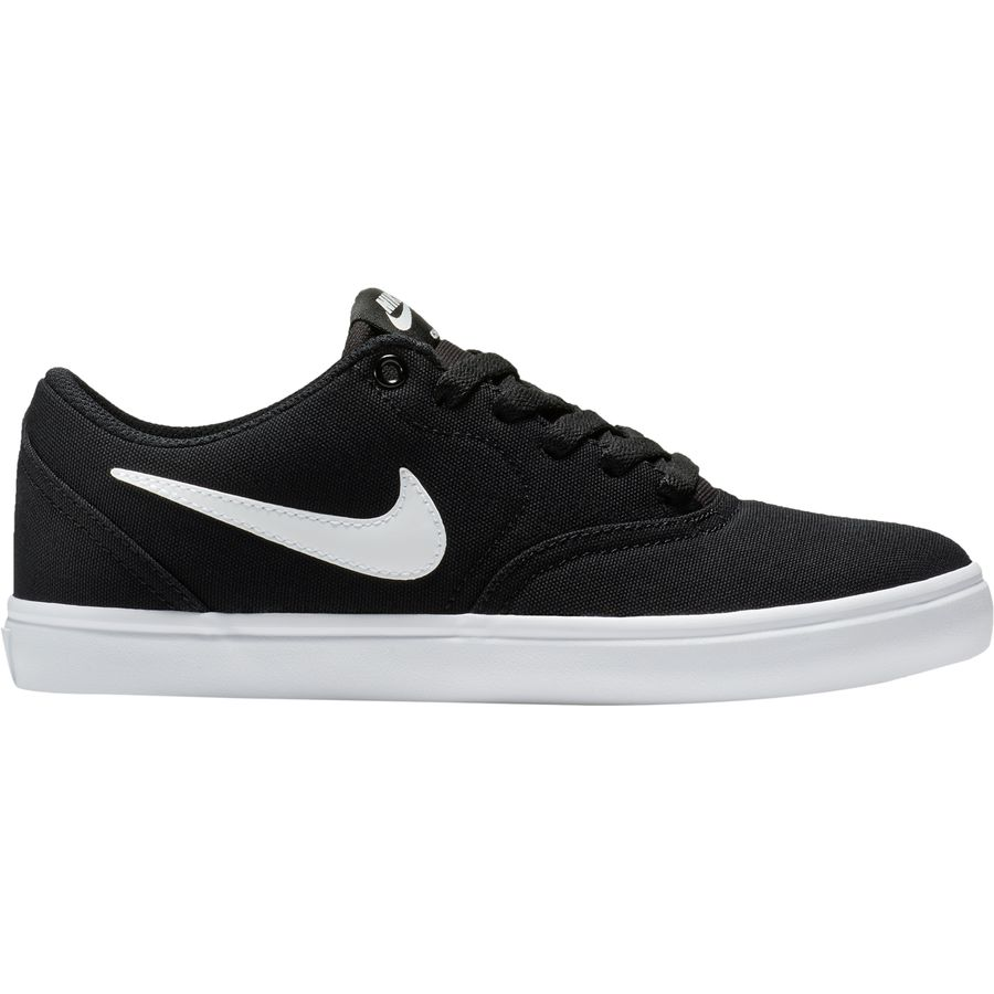 Nike - SB Check Solarsoft Canvas Shoe - Women's - Black/White-Pure Platinum