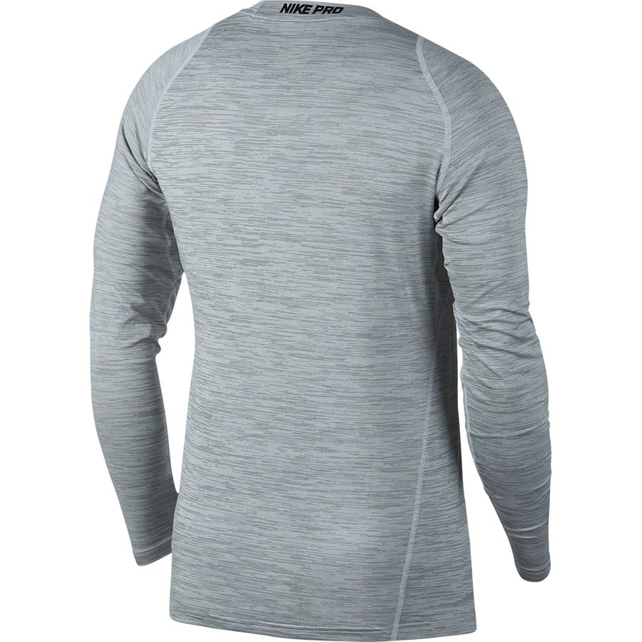 Nike Nikepro Long Sleeve Fitted Heather Top Mens Pro Combat Base Layer Sleeves