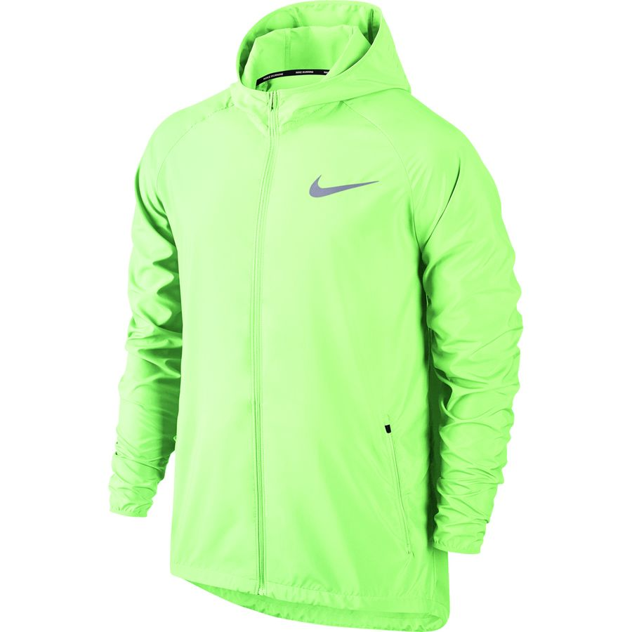 7a41ed09b8fa Nike - Essential Hooded Running Jacket - Men s - Barely Volt Reflective  Silver